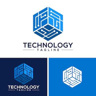 Tecnología logo vector de plantilla