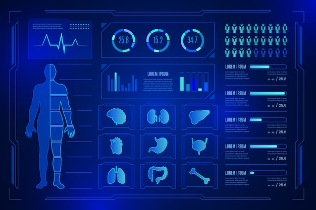 Tecnología médica infografía