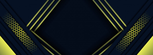 Tecnología moderna fondo azul y amarillo oscuro con estilo abstracto