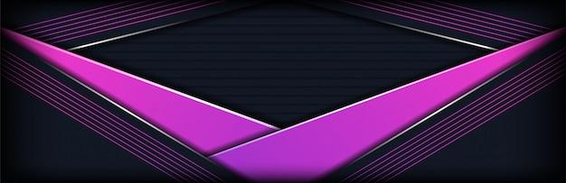 La tecnología moderna gris oscuro se combina con el fondo púrpura