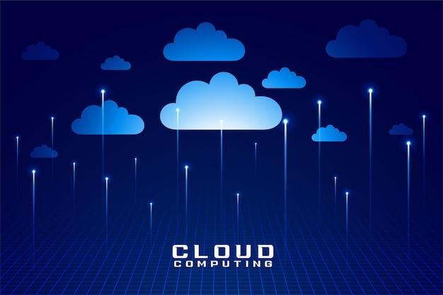 Tecnología en la nube computación digital diseño futurista.
