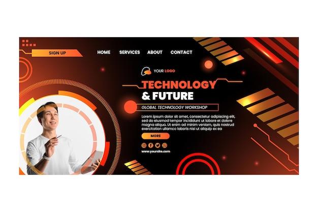 Tecnología y página de destino futura
