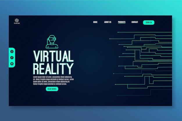 Tecnología y plantilla de página de destino futura.