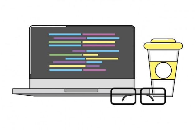 Tecnología portátil de dibujos animados