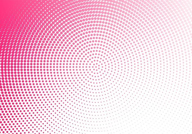 Tecnología punteada circular rosa abstracta