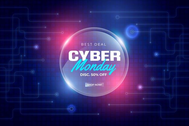 Tecnología realista cyber monday