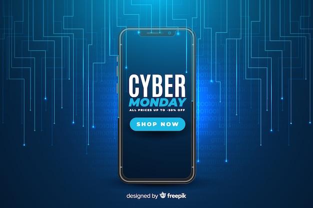 Tecnología realista de lunes cibernético