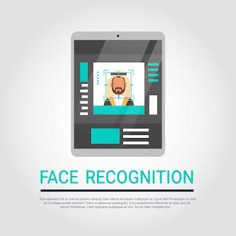 Tecnología de reconocimiento de rostro tableta digital sistema de seguridad de escaneo islámico masculino usuario biométrico iden