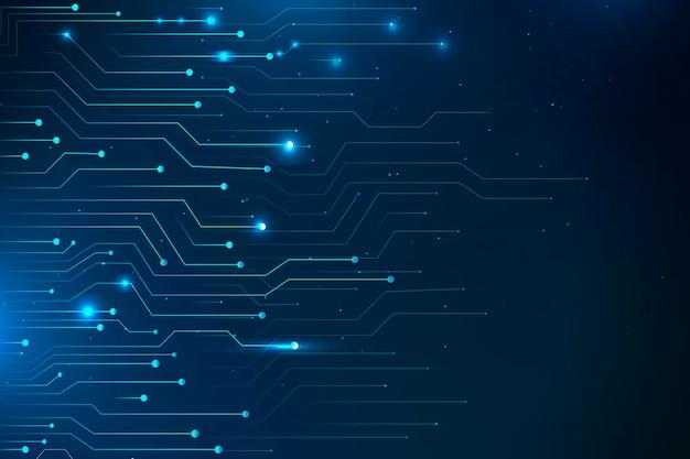 Tecnología de red futurista azul