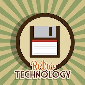 Tecnología retro y vintage gráfica.