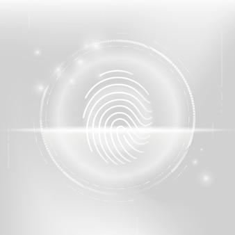 Tecnología de seguridad cibernética de escaneo biométrico de huellas dactilares