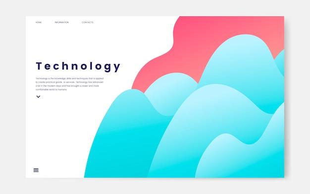 Tecnología y sitio web informativo de ti gráfico.