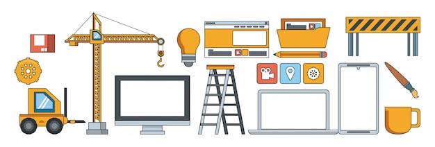 Tecnología de soporte de mantenimiento del sitio web de construcción