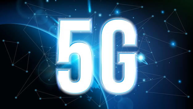 Tecnología de transmisión de señal 5g, internet wifi.