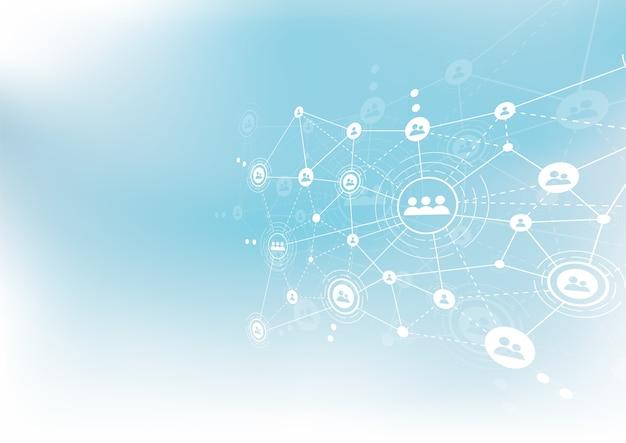 Tecnologías de conexión para empresas. técnica mixta