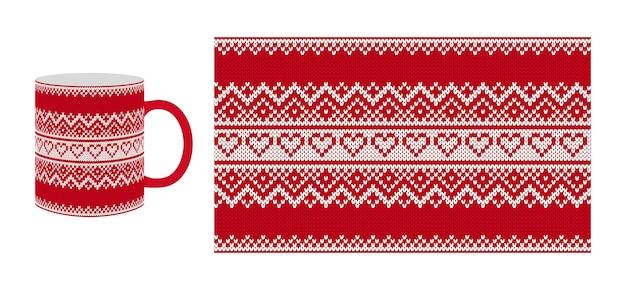 Tejer patrón de san valentín. textura sin fisuras con herats.