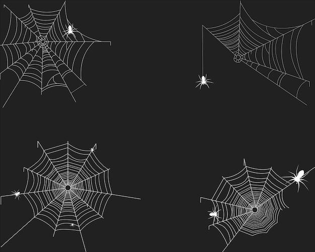 Tela de araña en blanco