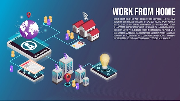 El teléfono celular 3d funciona desde la conexión de red doméstica