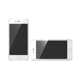 Teléfono conjunto maqueta vector