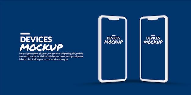 Teléfono inteligente mínimo con pantalla en blanco para el desarrollo de aplicaciones y el diseño de ux / ui