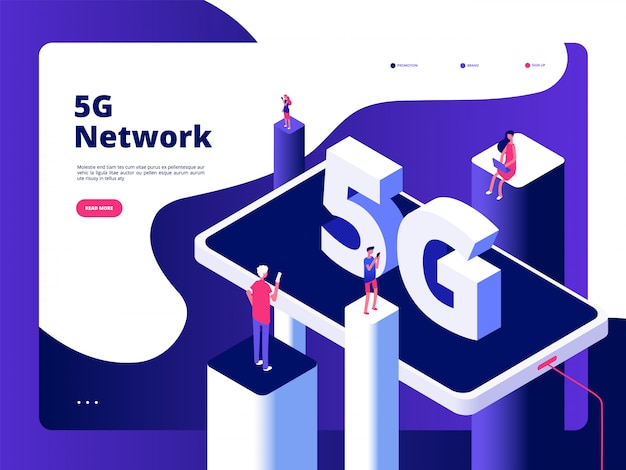 Teléfono inteligente tecnología de transmisión velocidad internet banda ancha quinto puntos de acceso wifi red global telecomunicaciones