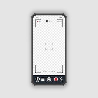 Teléfono móvil con concepto de cámara de fotograma de registro