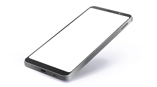 Teléfono móvil negro realista