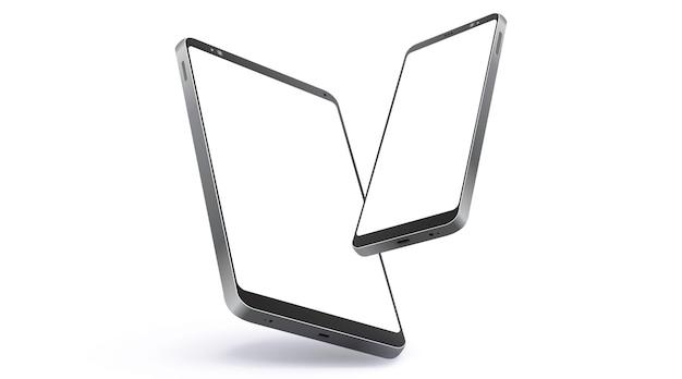 Teléfono móvil y tableta realista