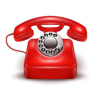 Teléfono rojo realista
