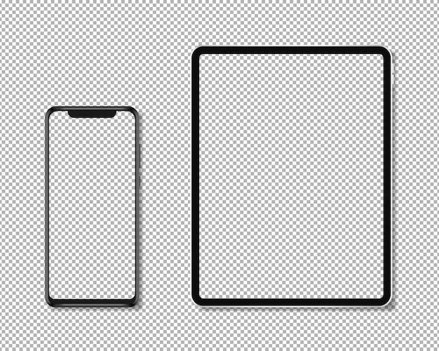 Teléfono y tableta realistas