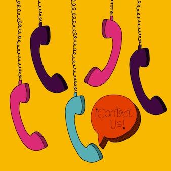 Teléfonos colgando