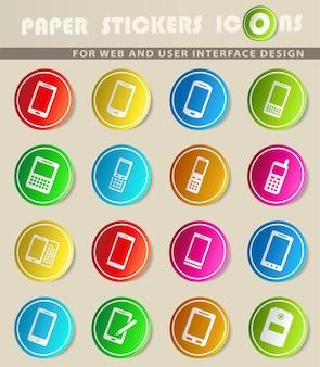 Teléfonos simplemente símbolos para la web y la interfaz de usuario
