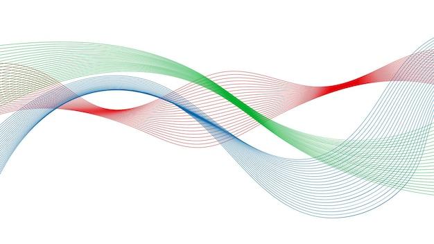 Telón de fondo abstracto con líneas de degradado de onda de colores sobre fondo blanco. fondo de tecnología moderna, diseño de onda. ilustración vectorial