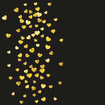 Telón de fondo de amor. concepto de vacaciones de oro. textil escandinavo. elemento de sueño amarillo