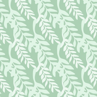 Telón de fondo de rama de hoja abstracta. verdes ramas de patrones sin fisuras. ilustración de vector sobre fondo verde para cubiertas textiles o de libros, fondos de pantalla, diseño, arte gráfico, envoltura