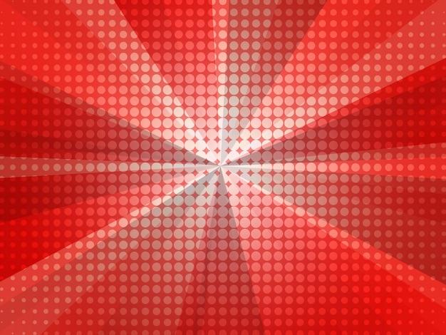Telón de fondo de vector fondo decorativo con bomba explosiva en estilo pop art.
