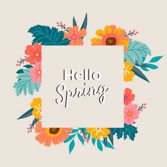 Tema artístico colorido hola primavera