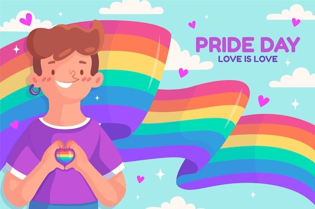Tema de la bandera del día del orgullo