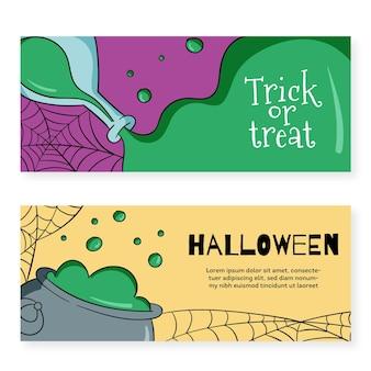 Tema de banners de festival de halloween