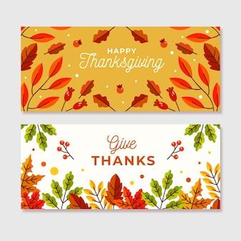 Tema de banners de instagram del día de acción de gracias