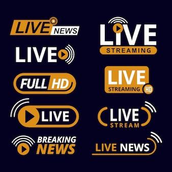 Tema de banners de noticias de transmisiones en vivo