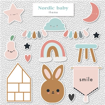 Tema del bebé nórdico
