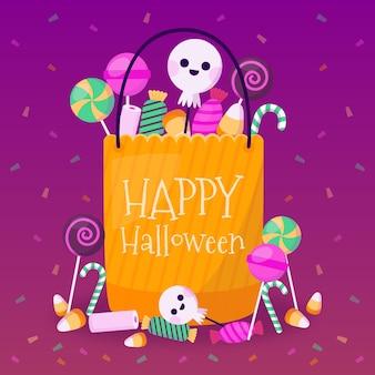 Tema de la bolsa de halloween