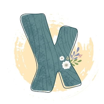 Tema de bosque de letras del alfabeto