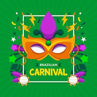 Tema de celebración de carnaval brasileño