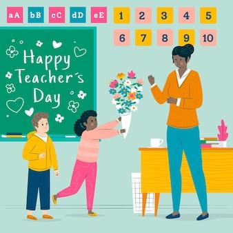 Tema de celebración del día del maestro