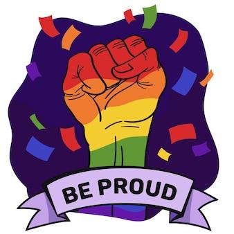 Tema de celebración del día del orgullo