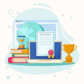 Tema de certificación en línea