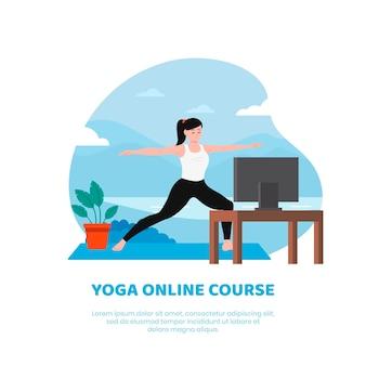 Tema de clase de yoga en línea