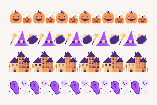 Tema de colección de borde de halloween